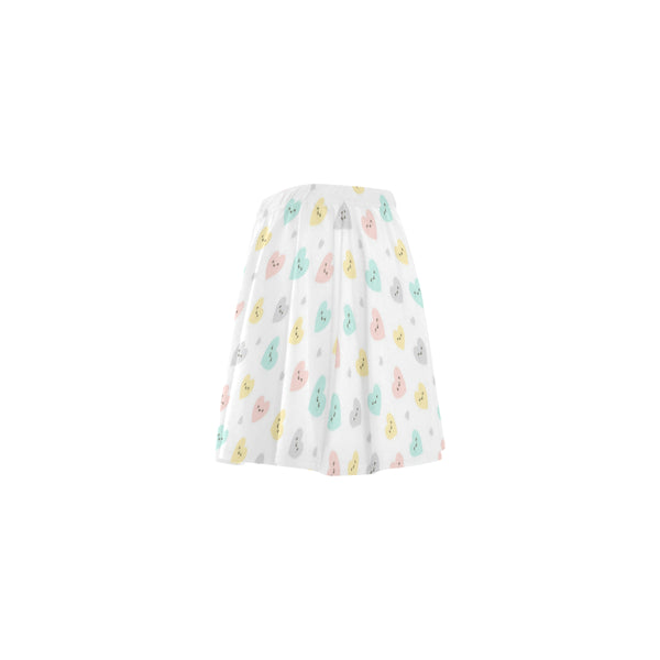 DDLG Cute Hearts White Flare Skirt