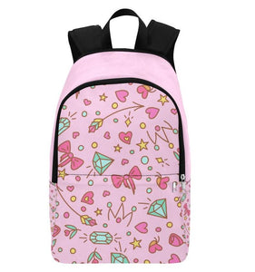 DDLG Girly Bows & Diamonds Pink Backpack