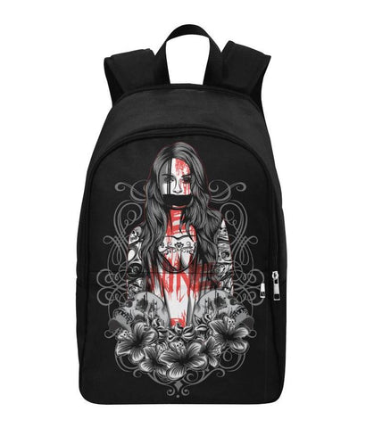 Graffiti & Skulls Black Backpack