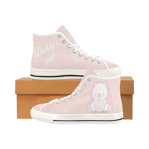 Daddy's Girl Teddy Bear DDLG High Top Women Canvas Shoes