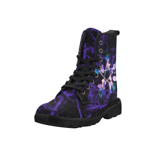 Witch Roses Pentagram Women Boots