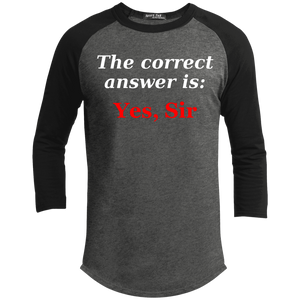 Correct answer Baseball Raglan T-Shirt