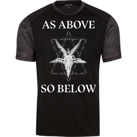 As above so below  Men Premium Sport-Tek CamoHex T-Shirt