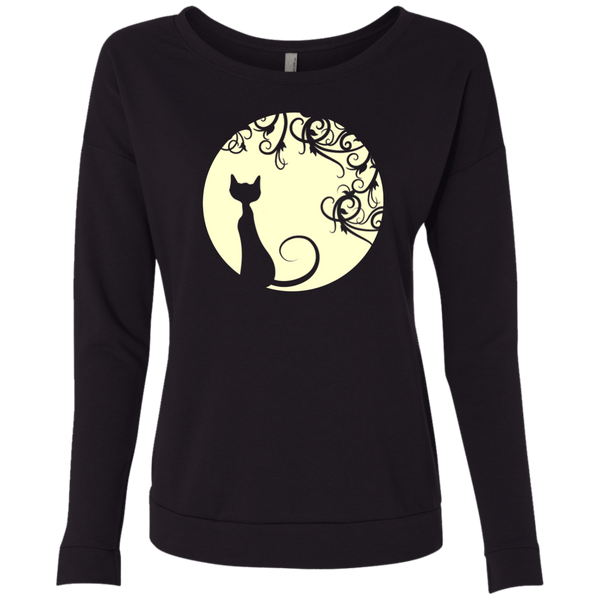 Black cat in the moon  Women Lightweight