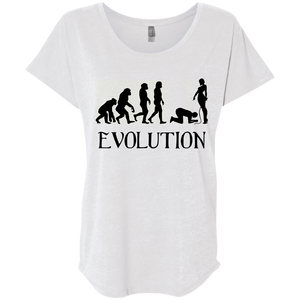 Femdom Evolution BDSM Fetish Women Triblend T-Shirt