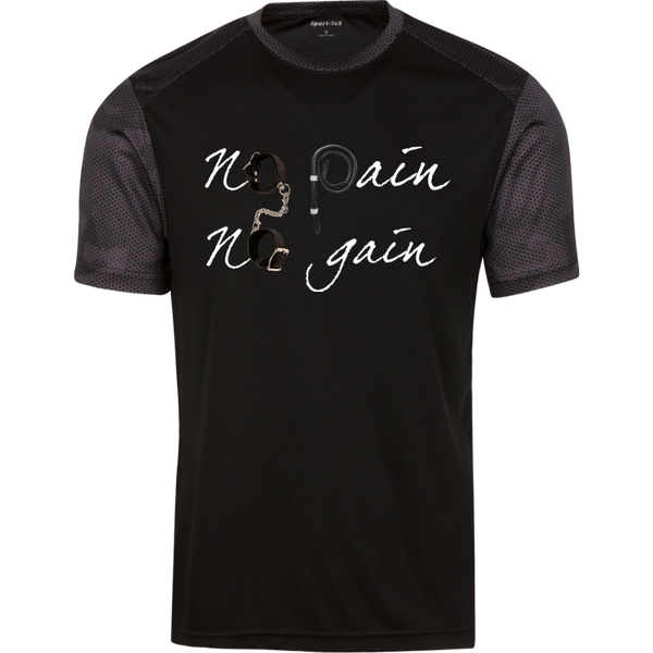 No pain No gain  Men Sport-Tek CamoHex T-Shirt