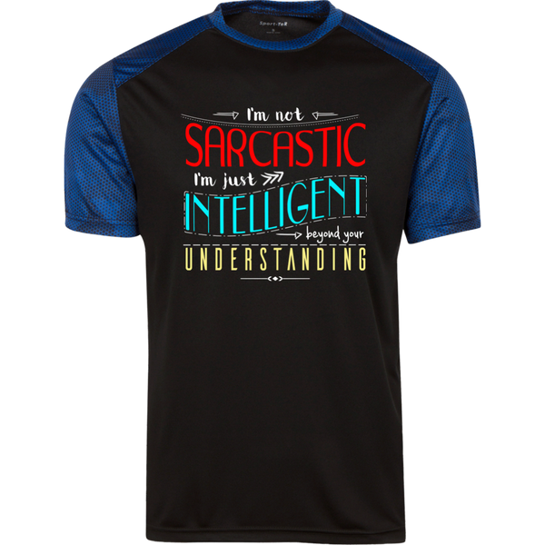 I am not sarcastic Men Sport-Tek CamoHex T-Shirt