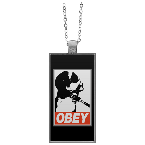 Obey Rectangle Necklace