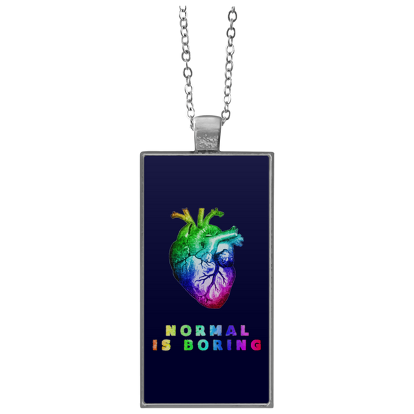 Normal is boring Rectangle Necklace