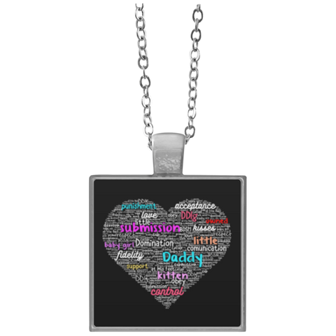 Heart  Square Necklace