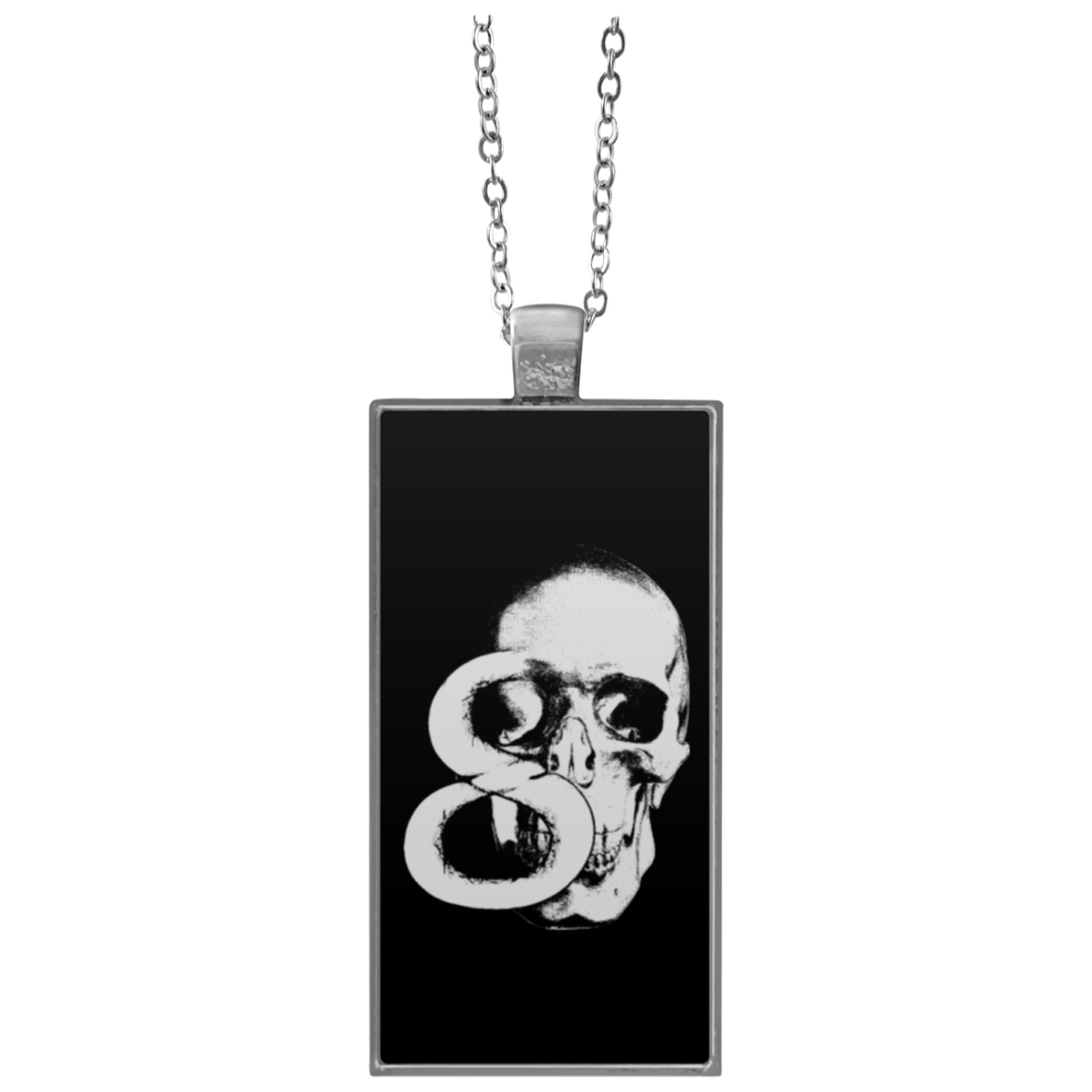 Skull 8 Rectangle Necklace
