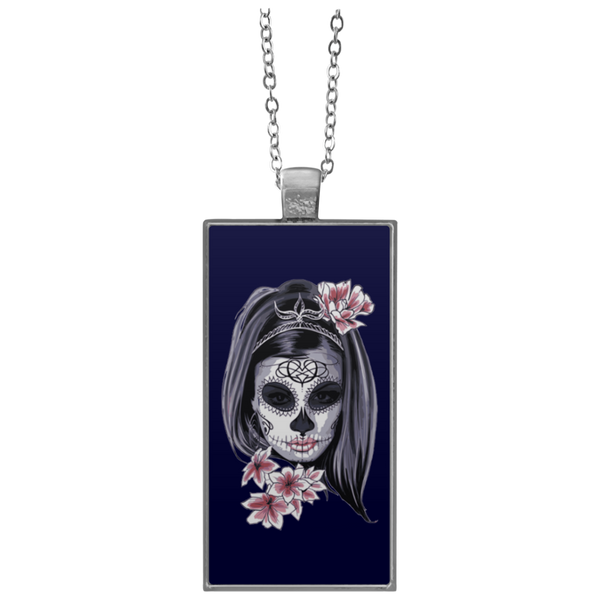 Sugar Skull  Rectangle Necklace