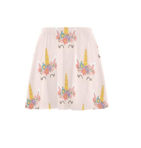 Daddy's Girl Cute Unicorn DDLG  Women's All Over Print Flare Skirt