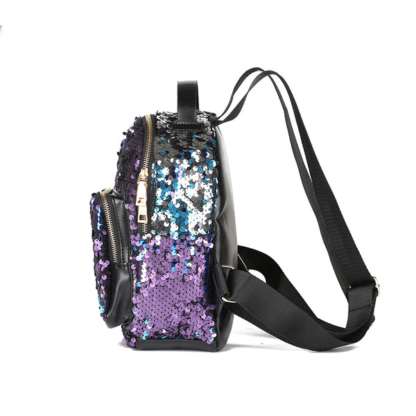 Punk Sequins Mini Backpack