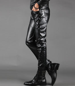 Punk Rock Strings Leather Pant