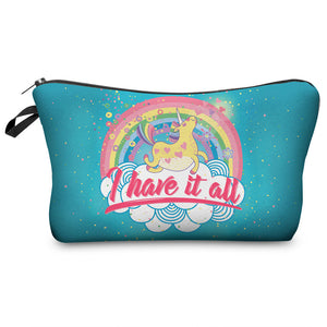 """I have it All"" Unicorn Cosmetic Bag"