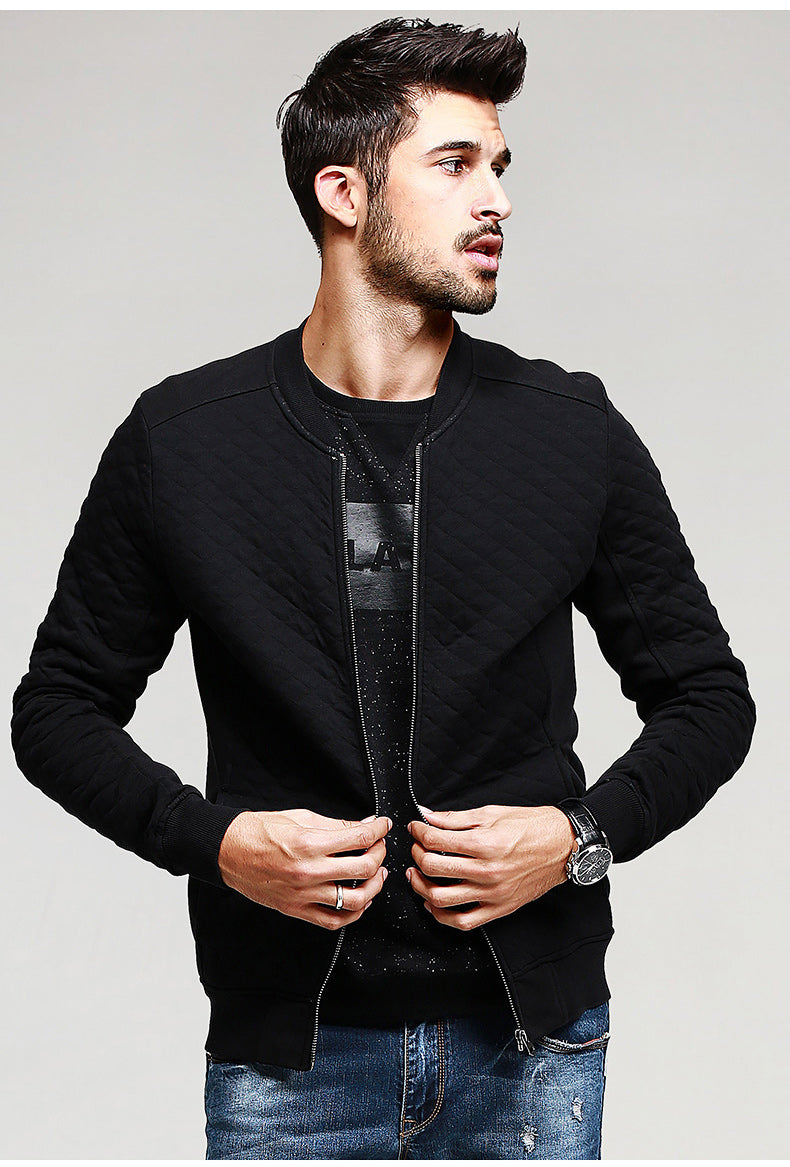 Spring Black Casual Men Jacket