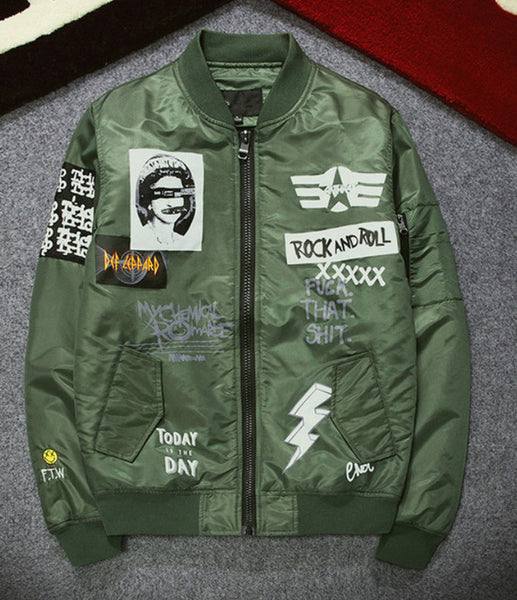 Alternative Rock Men's Flight Jacket