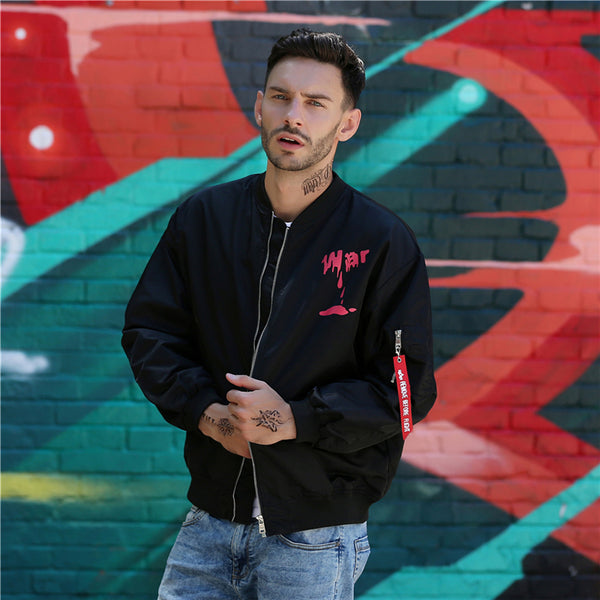 """Life is Art"" Windbreaker Baseball Men Jacket"