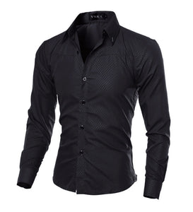 Elegant Casual Long Sleeve Men Shirt