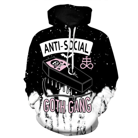 Anti-social Pirates Coffin Skull Ink Women's  Hooded Sweatshirt