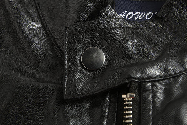 Black Punk Motorcycle Men Jacket