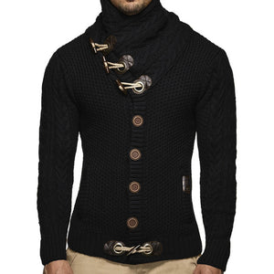 Steampunk Casual Cardigan Men Sweater