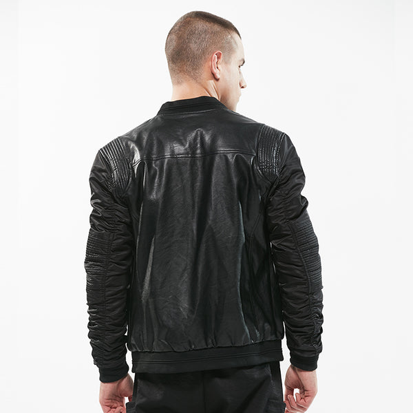 Biker Patchwork Spring Men Jacket