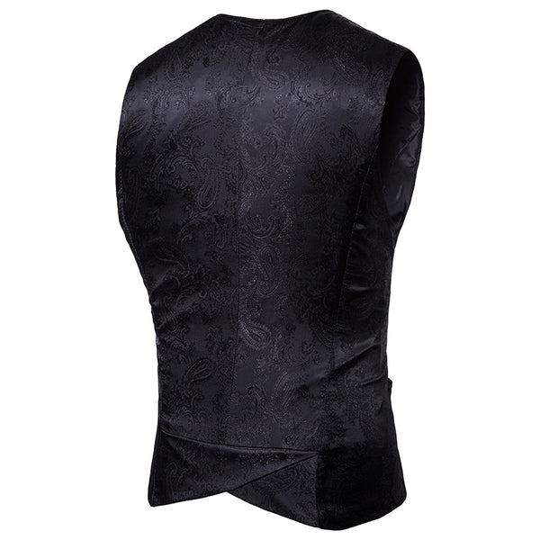 Vintage Steampunk Single-Breasted Waistcoat Men Vest