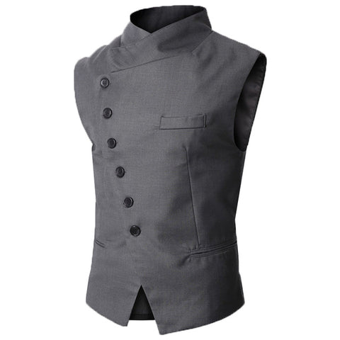 British Style Diagonal Men Vest