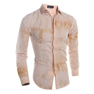 Steampunk Slim Fit Long Sleeve Men Shirt