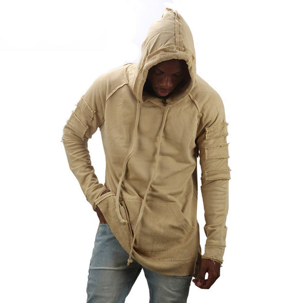 Ripped Damage Streetwear Men Hoodie Sweatshirt