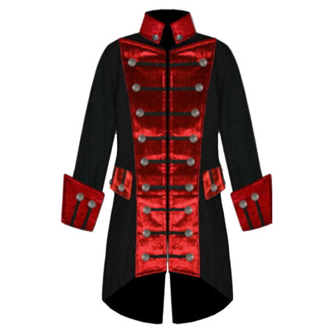 Steampunk Gothic Long Men Victorian Coat