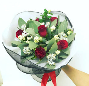 Bloody Mary Red Rose Posy