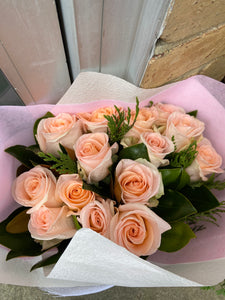 Rose bouquet- long stem big head roses