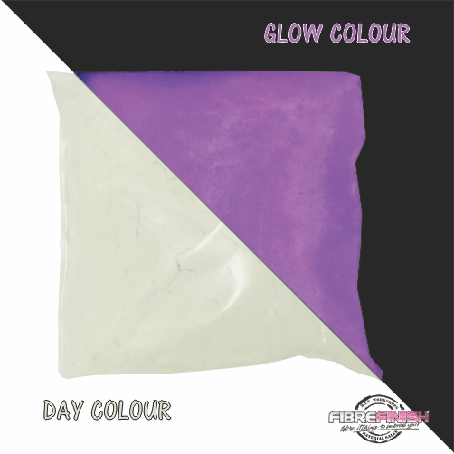 Glow In The Dark Powder (White - Purple)