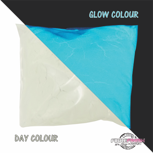 Glow In The Dark Powder (White - Sky Blue)