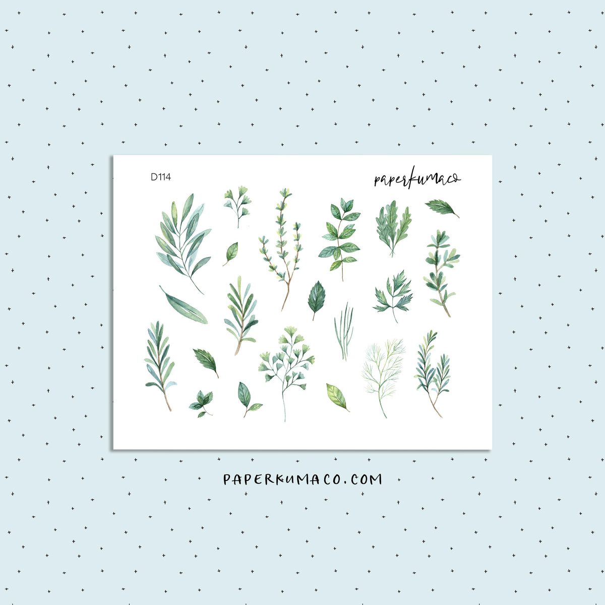 Herbs Greenery Stickers