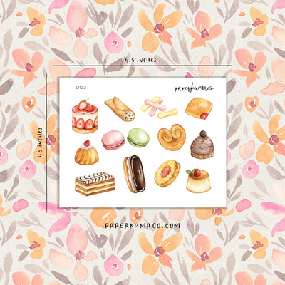 Pastries Food Stickers