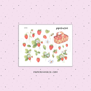 Strawberry Stickers - D134