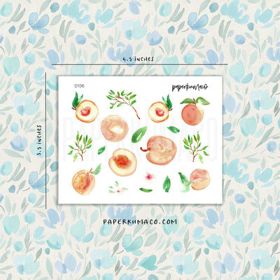 Peachy Fruit Stickers