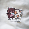 Coco & Momo Friendship Sticker Flake