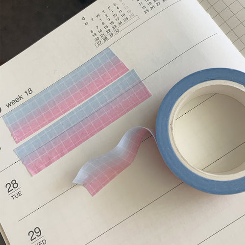 Cotton Candy Grid Washi Tape