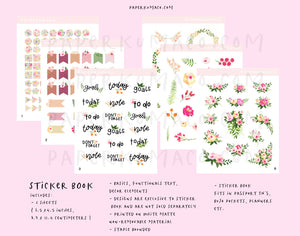 Floral Sticker Book - Vol. 1