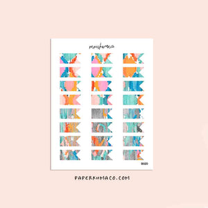 Colorful Abstract Mini Banner Stickers - B020