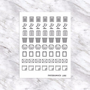 School Stationery (Ver. 2) Doodle Icons - L002