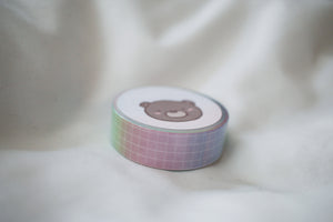 Rainbow Ombre Grid Washi
