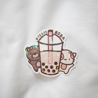 Team Boba Sticker Flake