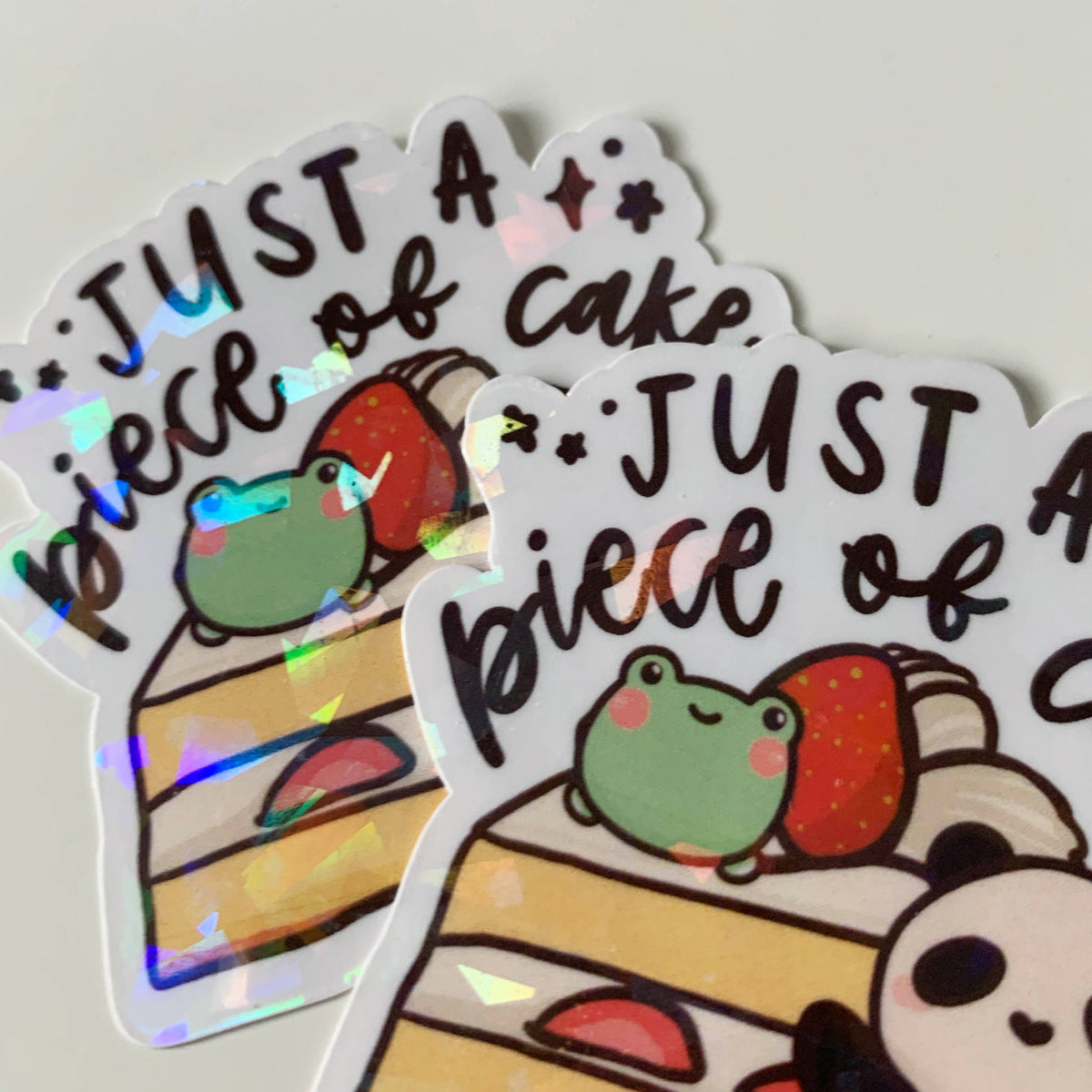 Just A Piece of Cake Sticker Flake