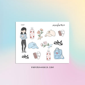 Aesthetic Cute Girl Stickers